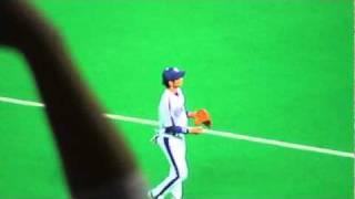 2010 日本シリーズ第7戦/ライトとキャッチボール・英智