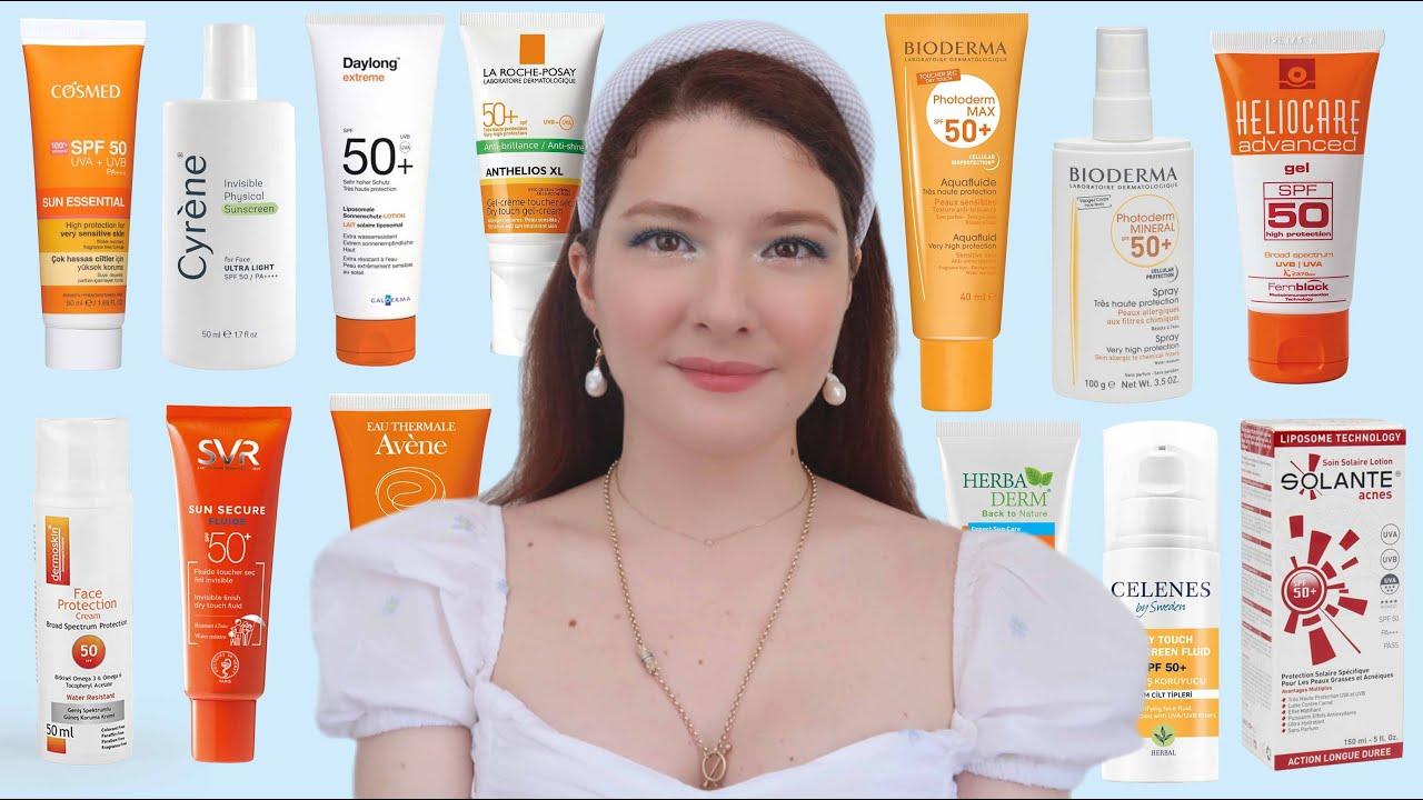 Güneş Kremi Nasıl Seçilir?│ En İyi Türk & Avrupa Dermokozmetik Güneş Kremleri☀️
