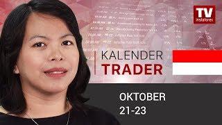 InstaForex tv news: Kalendar pedagang untuk 21 – 23 Oktober: Investor bertaruh pada pemotongan suku bunga Fed
