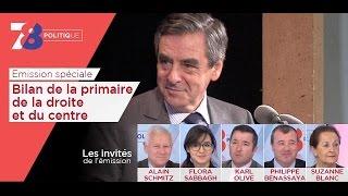 7/8 Politique – émission spéciale bilan de la primaire de la droite et du centre