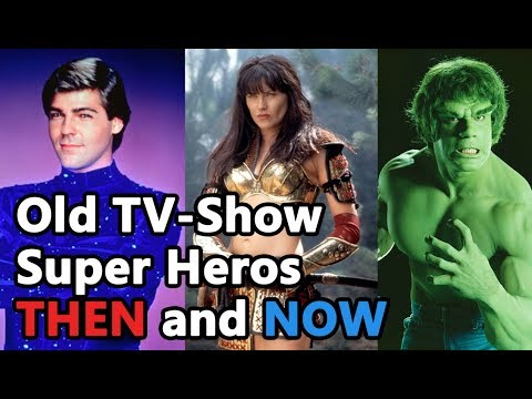 80s' and 90s' Most Popular Superhero TV s' Main Characters THEN and NOW!!!