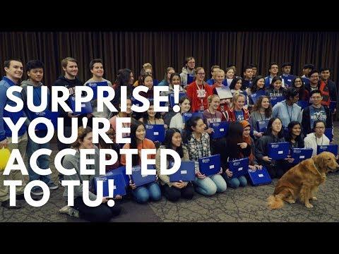 University Of Tulsa Surprise Admission Deliveries