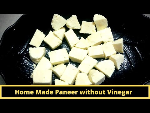 Homemade Paneer without Vinegar | Easy Way to Paneer Making at Home