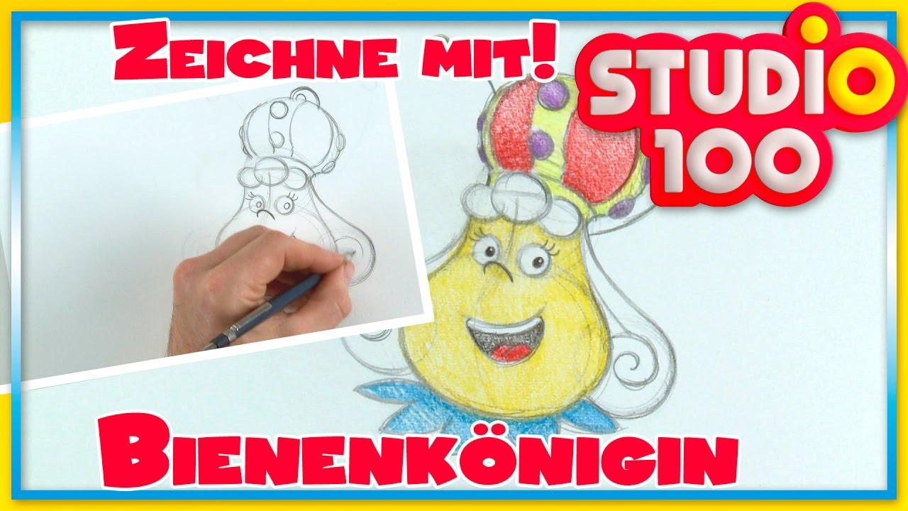 Zeichnen lernen mit Maja! ✿ Zeichne die Bienenkönigin - YouTube