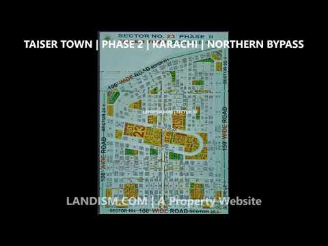 Taiser Town Phase 2 Map Sector 11, 17, 17B, 18, 21, 22, 23, 25, 30