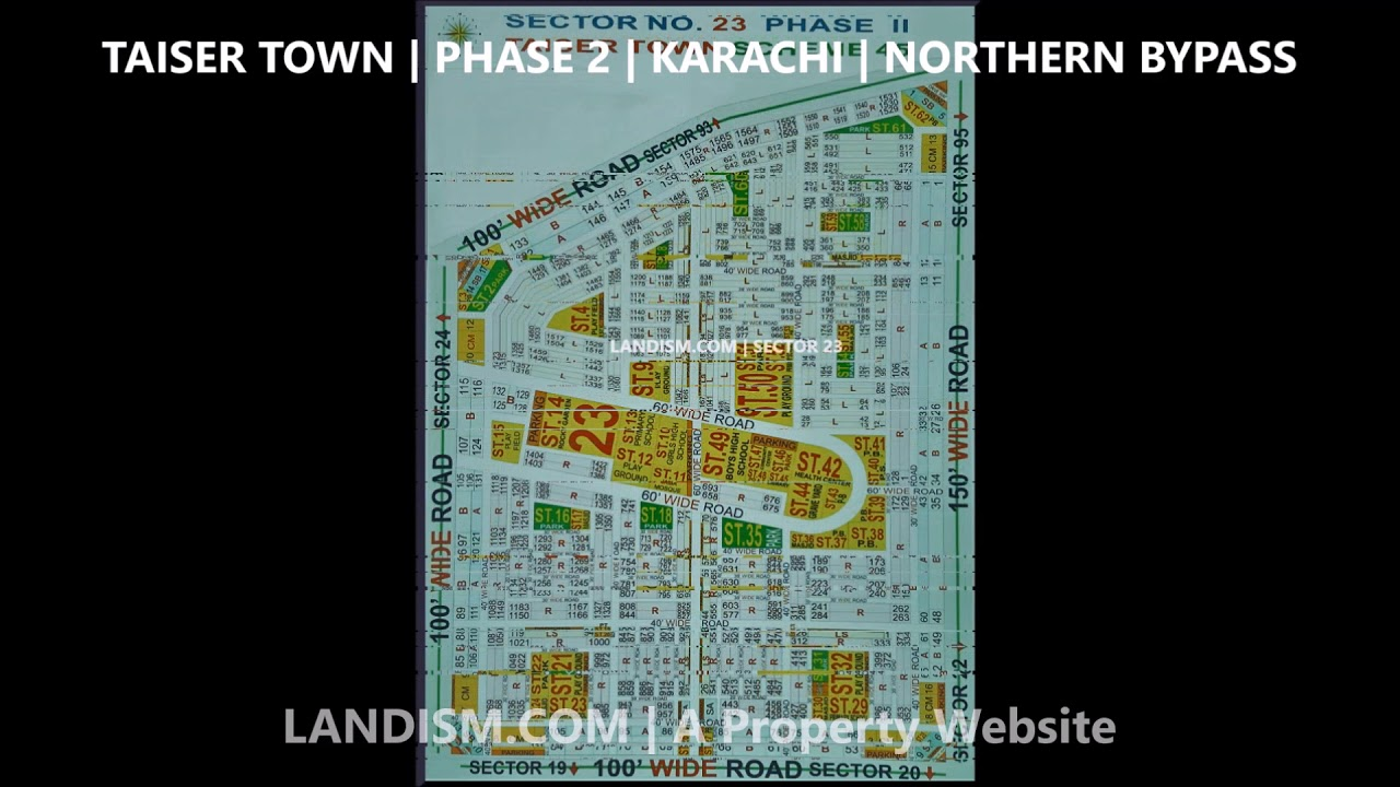 Taiser Town Phase 2 Map Sector 11, 17, 17B, 18, 21, 22, 23, 25, 30, 31B,  37A, 49, 82, 91, 93, 94, 95 by Landism com