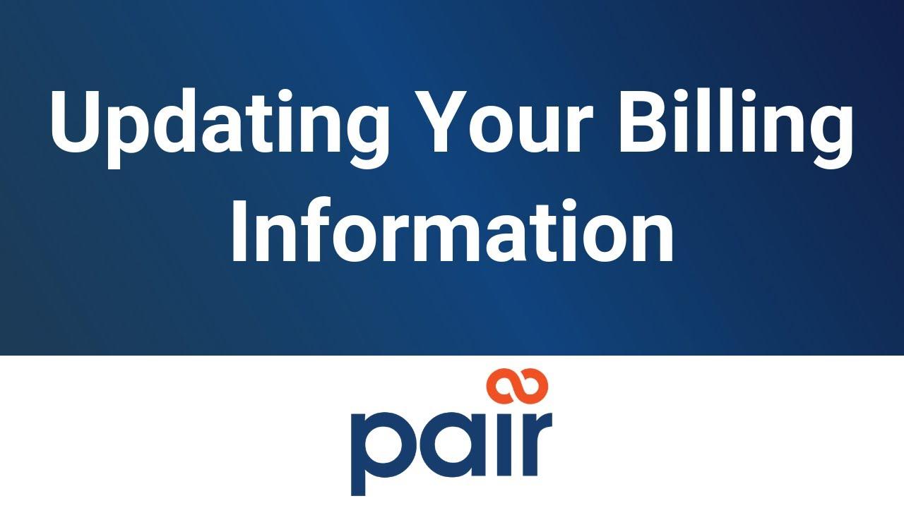 Updating Your Billing Information
