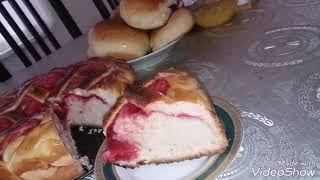 Пирог с начинкой (Пирог проще простого) Рецепт смотрите в шапки страницы сайта.