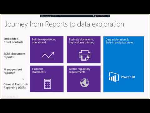 Dynamics 365 for Operations – Tech Talk: Reporting options