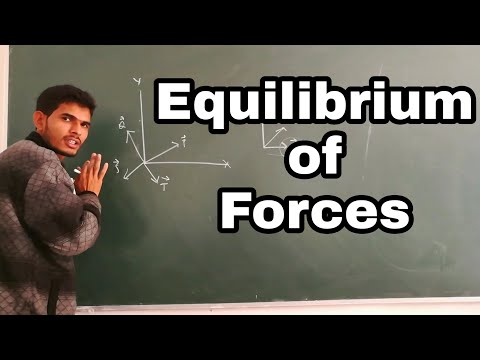 Equilibrium of Forces in Engineering Mechanics in Hindi by N