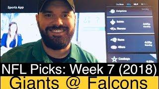 NY Giants at Falcons (2018) | Week 7 NFL Expert Picks & Predictions | New York vs Atlanta