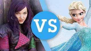 Disney Descendants' Mal VS Frozen's Elsa | Fashion, Love, Superpowers & More!