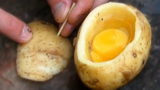 Patatesin İçinde Nasıl Yumurta Pişirilir? - Hayatta Kalma İpuçları thumbnail