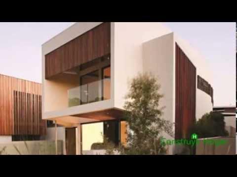 Dise o de moderna casa de dos pisos de hormig n youtube - Casas de dos pisos ...