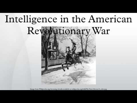 Intelligence in the American Revolutionary War