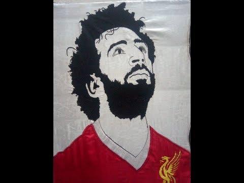 صورة اللاعب محمد صلاح نجم مصر وليفربول باقل الاسعار Mo Sarah Embroidery pic
