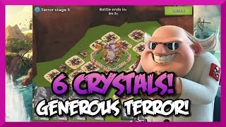 Boom Beach Dr.Terror: STAGE 6 HARDER THAN 7! - 6 CRYSTALS! - Warrior Attack Strategy