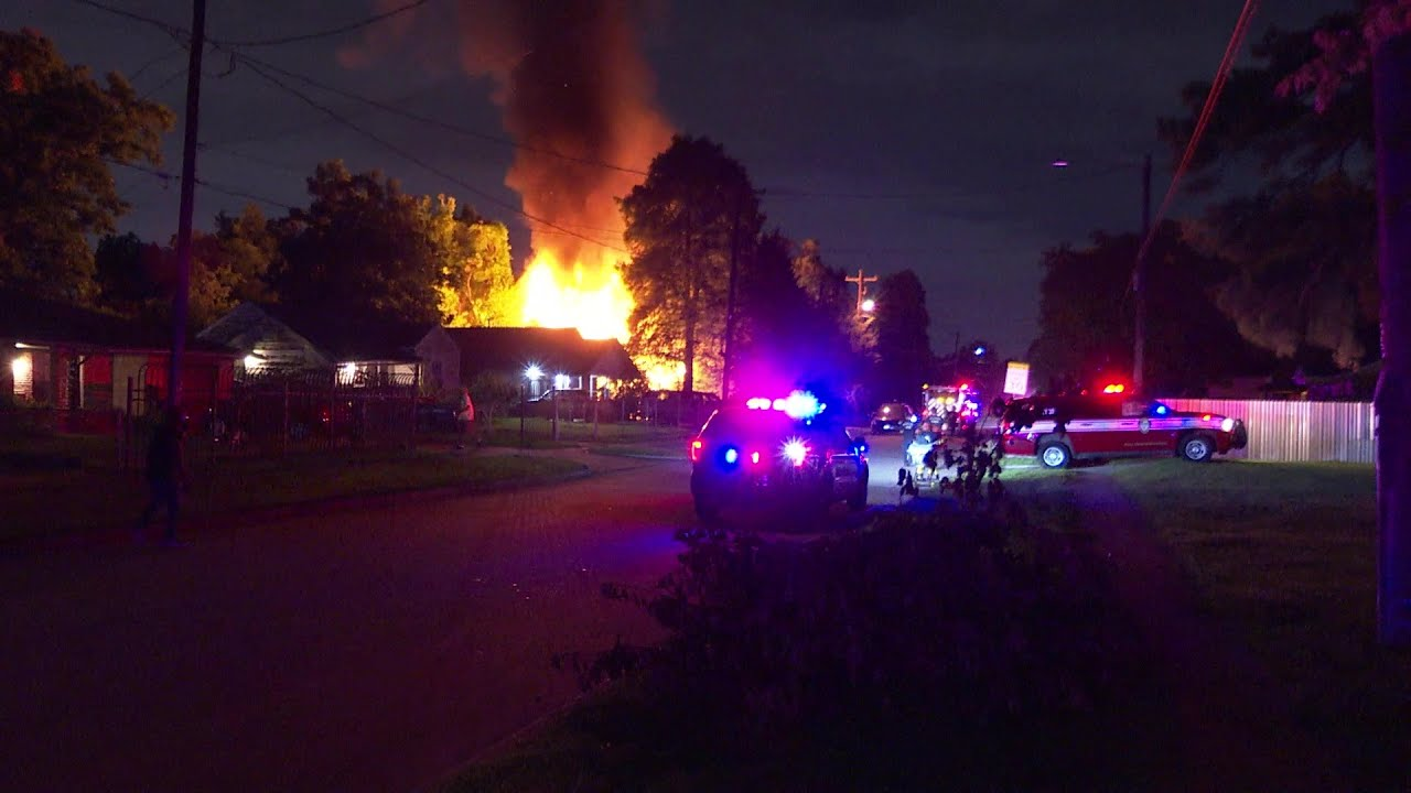 House Destroyed By Flames In Houston