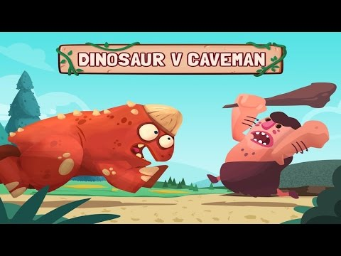 Dino Bash - Dinos vs Cavemen -By Game Alliance - Strategy - iTunes/Android