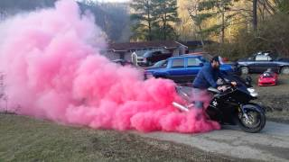 Baby reveal on a bike