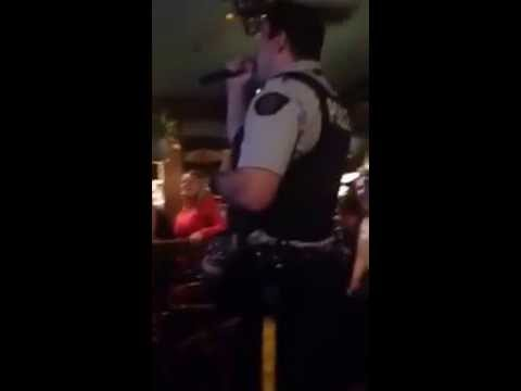 Singing Mountie Const. Kevin Roy Nails It At Central Station Pub In Kamloops
