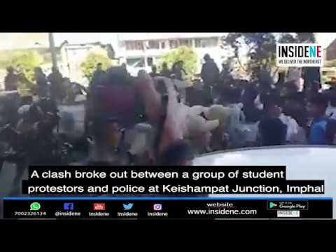 Manipur: Clash Breaks Out Between Police and Student Protesters