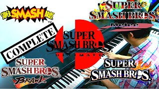 ALL SUPER SMASH BROS (N64, Melee, Brawl, Wii U & Ultimate) INTROS for Piano ~ IN ONE SITTING