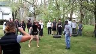 Gangster vs muai Thai fighter!!