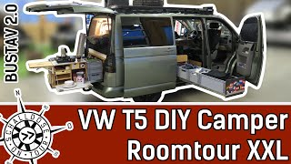 XXL Roomtour VW T5 || DIY Camper Selbstausbau || Bustav 2.0 || SCHALLDOSE ON TOUR