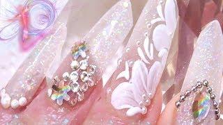 WEDDING EDGE NAILS 💎💎🍸💍🌹🌹( acrylic nails )