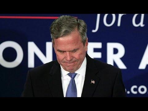 Bush bows out of Republican race as Trump triumphs in South Carolina