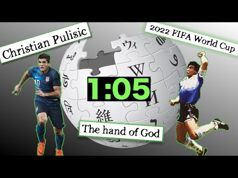 HOW FAST CAN WE FIND CHRISTIAN PULISIC?! - Soccer Themed Wikipedia Speedrun
