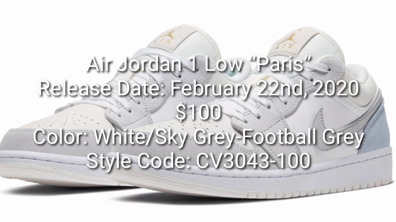 Jordan 1 Low Paris Youtube