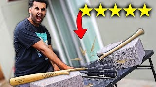 Someone Sent Me A 100% UNBREAKABLE Baseball Bat!! (5 STARS) *BULLET PROOF*