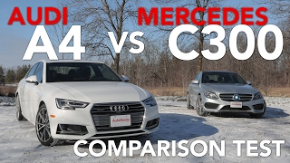 2017 audi a4 2 0tfsi quattro vs 2017 mercedes benz c300 4matic