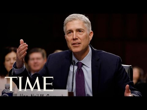 Neil Gorsuch Discusses Roe v. Wade During Confirmation Hearing | TIME