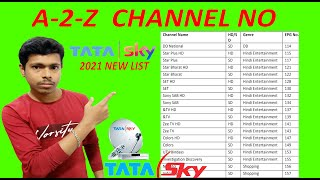TATA SKY All Channel list 2021   A 2 Z Channel No With price DTH   Sanjay Bangal