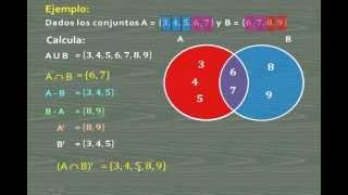 OPERACIONES CON CONJUNTOS - REUNIÓN, INTERSECCIÓN, DIFERENCIA Y COMPLEMENTO - MATEMÁTICA