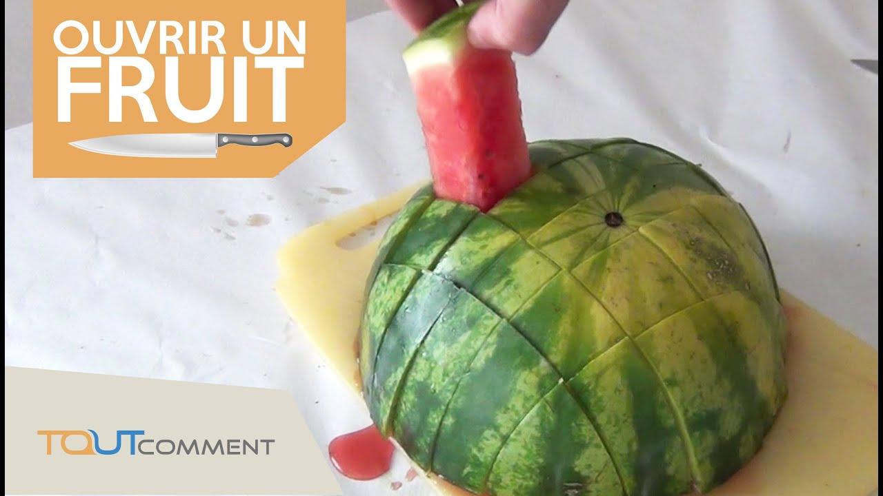 comment couper une pasteque rapidement