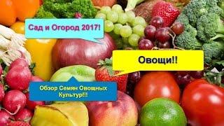 Сад и Огород 2017! Овощи!! Обзор семян овощных культур!!!