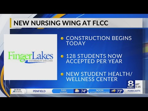 Construction begins for new nursing wing at Finger Lakes Community College