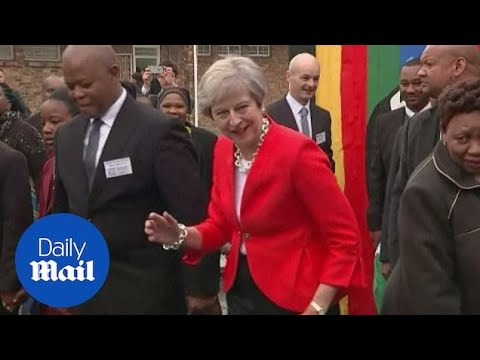 Is Theresa May the most AWKWARD dancer ever?!