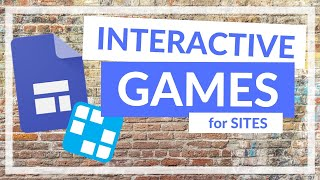 How to add Games to your Google Sites