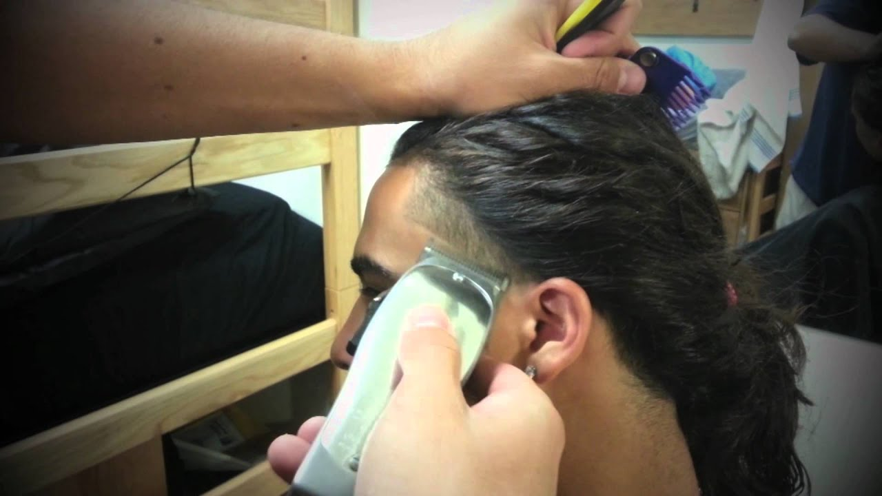 Taper And Line Up On Long Hair Youtube