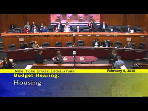 Joint Legislative Budget Hearing on Housing - 02/05/15