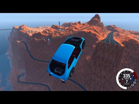 BeamNG.drive: Saltando o Grand Canyon