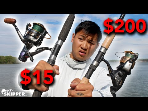 $15 Wish.com Fishing Reel Vs $200 Shimano Fishing Reel
