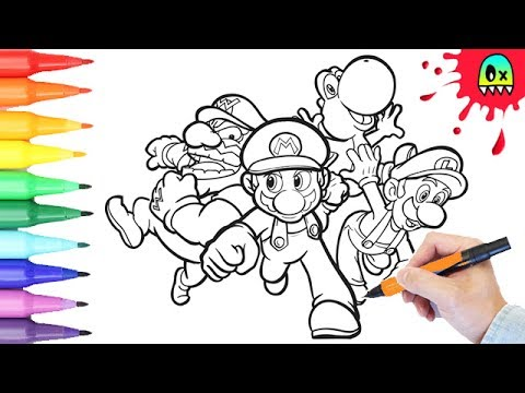 Coloring Pages Super Mario Bros Coloring Book Fun I Coloring Videos For  Kids - YouTube