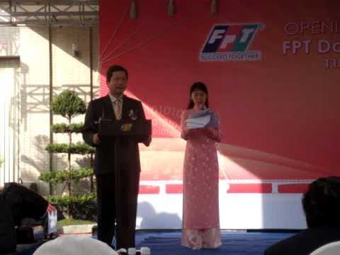 Anh BinhTG phát biểu - khai trương tòa nhà FPT Đà nẵng