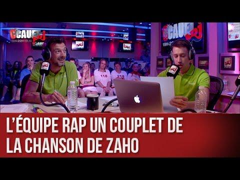 L'équipe rap un couplet de la chanson de Zaho - C'Cauet sur NRJ